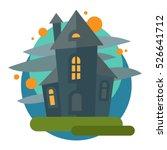 scary dark castle vector. | Shutterstock .eps vector #526641712