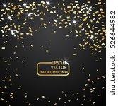 gold confetti celebration... | Shutterstock .eps vector #526644982