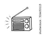 radio doodle | Shutterstock .eps vector #526653115