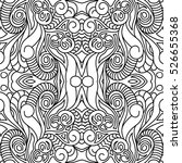 coloring book for adults.... | Shutterstock .eps vector #526655368