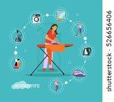 vector set of housekeeping... | Shutterstock .eps vector #526656406