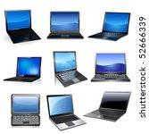 lap top icon set   Shutterstock .eps vector #52666339