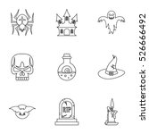 terrible holiday icons set.... | Shutterstock .eps vector #526666492