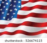american flag | Shutterstock .eps vector #526674115