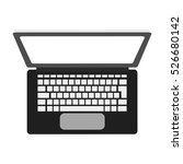 isolated laptop device design   Shutterstock .eps vector #526680142