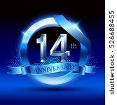 celebrating 14 years... | Shutterstock .eps vector #526688455