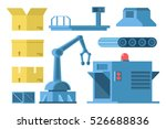 set for manufacture design with ... | Shutterstock .eps vector #526688836