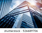 low angle view of skyscrapers... | Shutterstock . vector #526689706