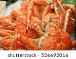 Red King Crab On Ice In The...