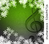 music snowflakes leather... | Shutterstock . vector #526694716