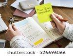 new year resolution aspirations ... | Shutterstock . vector #526696066