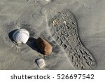footprint on mission bay | Shutterstock . vector #526697542