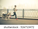 Image Of Young Girl Running...