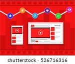 viral video and most trending... | Shutterstock .eps vector #526716316
