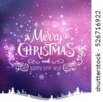 christmas and new year... | Shutterstock .eps vector #526716922