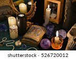 mystic still life with the...   Shutterstock . vector #526720012