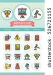 icon set financial vector | Shutterstock .eps vector #526721155