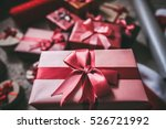 stylishly packaged boxes with... | Shutterstock . vector #526721992