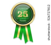 green celebrating 25 years... | Shutterstock .eps vector #526727812
