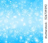 blue christmas background with... | Shutterstock .eps vector #526739392