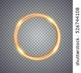 magic gold circle light effect. ... | Shutterstock .eps vector #526744108