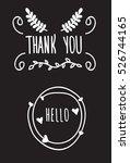 vector hand drawn frame. hello. ... | Shutterstock .eps vector #526744165