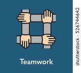 teamwork handshake minimalistic ... | Shutterstock .eps vector #526744642