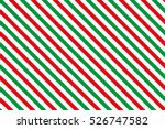 Red Green Stripes On White...