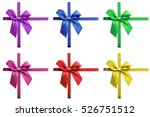 shiny colored satin ribbon on... | Shutterstock . vector #526751512