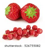 strawberry and redcurrant...   Shutterstock . vector #526755082