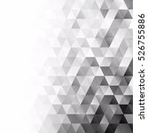 black grid mosaic background ... | Shutterstock .eps vector #526755886