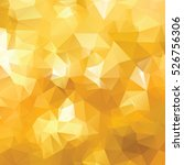 yellow and gold polygonal... | Shutterstock .eps vector #526756306