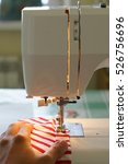 sewing machine at work. hobby   ... | Shutterstock . vector #526756696