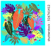 vector graphical tropical... | Shutterstock .eps vector #526761412