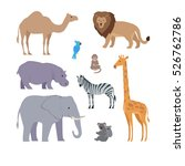 collection of african animals.... | Shutterstock . vector #526762786