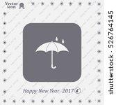 umbrella   packing symbol | Shutterstock .eps vector #526764145