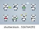 set of baby panda characters... | Shutterstock .eps vector #526764292