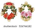 set. flower arrangement ... | Shutterstock . vector #526766182
