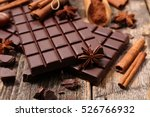 chocolate bar and spice | Shutterstock . vector #526766932