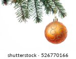 A Orange Christmas Bauble...