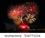 beautiful colorful fireworks in ... | Shutterstock . vector #526771216