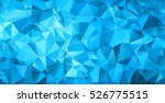 blue triangular abstract... | Shutterstock .eps vector #526775515