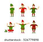 elf christmas set poses.... | Shutterstock .eps vector #526779898