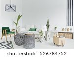 white living room with couch ... | Shutterstock . vector #526784752