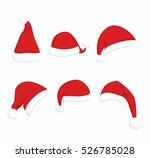santa claus red hat set.... | Shutterstock .eps vector #526785028