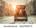 woman at winter time. yoyng...   Shutterstock . vector #526789672