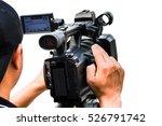 professional cameraman  ... | Shutterstock . vector #526791742
