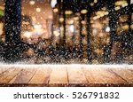 empty wood table top with... | Shutterstock . vector #526791832