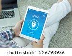 service concept on screen | Shutterstock . vector #526793986