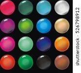 transparent balls in black ... | Shutterstock . vector #526798912